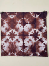 Load image into Gallery viewer, Hand dyed Itajime Tea Towel - Mulled Wine