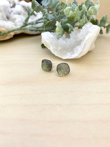 Labradorite studs on sterling silver posts