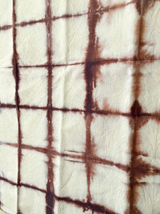 Hand dyed Itajime Tea Towel - Mulled Wine