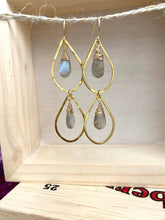 Load image into Gallery viewer, Raindrop earrings with Labradorite - 14k gold filled ear wires
