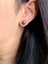 Load image into Gallery viewer, Unakite Earrings on Surgical Steel posts