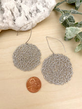 Load image into Gallery viewer, Wire Crochet Sterling Silver Nadia Earrings with long ear wires - Sterling Silver