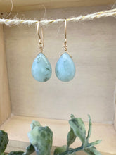 Load image into Gallery viewer, Amazonite Gemstone Drop Earrings - Sea Foam Green - Pastel Colored Gemstones