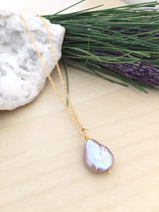 Lilac Single Pearl Necklace
