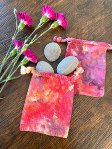 Hand Dyed Cotton Drawstring Gift Bags