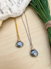 Load image into Gallery viewer, Black Gemstone Drop Necklace