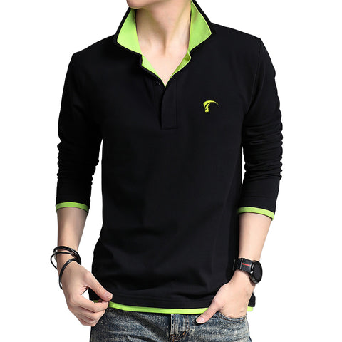 2016 POLO Mens Golf Apparel Long Sleeve Shirt Sports Uniforms Spring and Autumn Long Sleeve T-shirt Breathable Plus Size