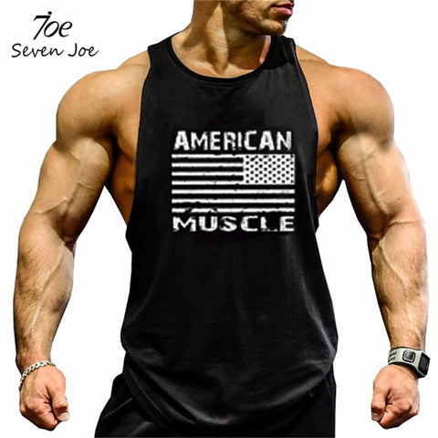 Seven Joe. Brand clothing Bodybuilding Fitness Men Tank Top workout American muscle Vest Stringer sportswear Undershirt