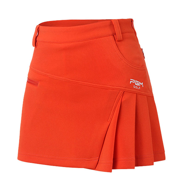 PGM Golf Clothes Female Short Divided Skirt Summer Woman Pleated Tennis Mini Skirt Lining Safety Fold Culottes Wrinkle Dress XL
