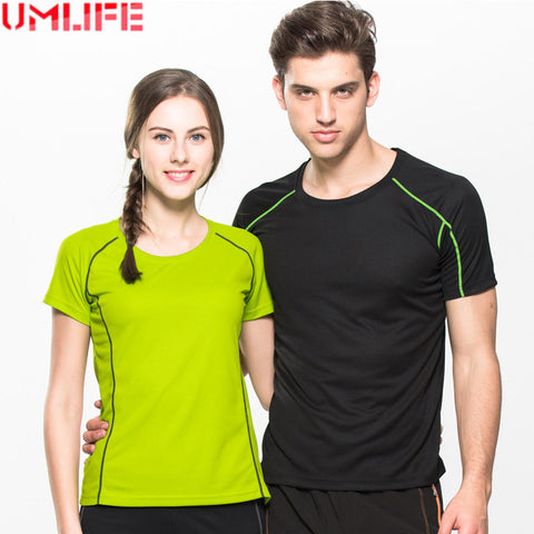 UMLIFE Sexy Yoga T Shirt Tank Top Fitness Quick-Dry  Sport Shirt Tights Women Gym Running Shirts Sportswear Tee For Man