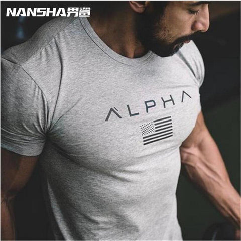 Men Fitness Clothes Bodybuilding T Shirts Gasp Short Sleeve Workout T-Shirt Muscle Shirts Tshirts Mens Top Tees