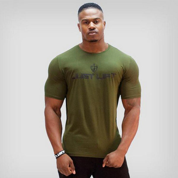 Summer mens cotton Short sleeve t shirt gyms Fitness bodybuilding shirts Crossfit male Brand tee tops casual sporting clothing