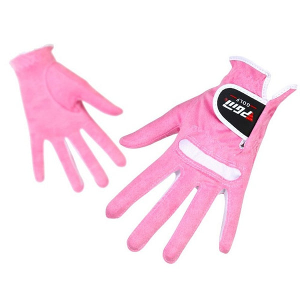 Women Golf Gloves for left hand Microfiber Soft Fit Sport Grip Mittens Durable gloves Anti-skid breathable Gloves