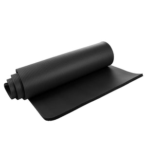 Yoga Mat 15mm Thick Exercise Fitness Physio Pilates Gym Mat Non Slip Crash Mat, Black