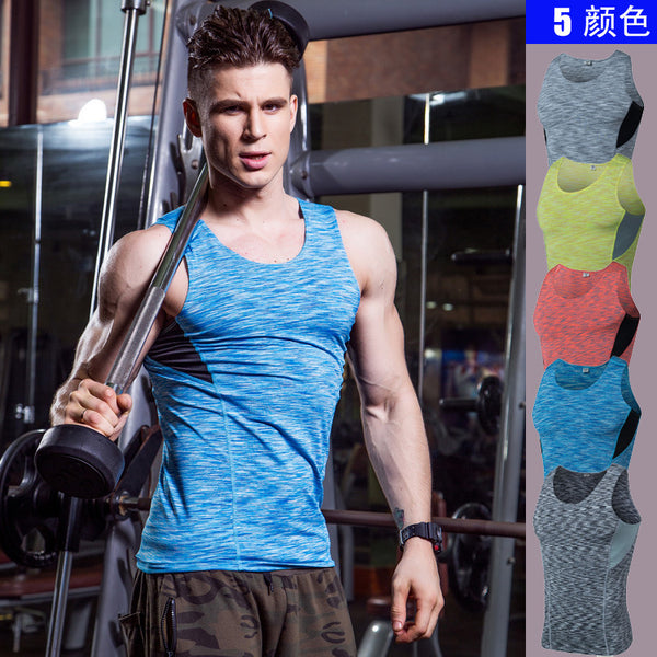 Brand Gyms Tank Tops Mens Bodybuilding Clothes Fitness Men Singlet Sleeveless Workout Stringer Quick Dry Compression Shirts
