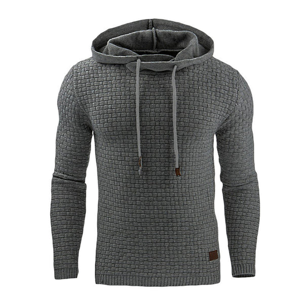 Men's Sportswear Sweatshirt Autumn Long Sleeve Hooded Solid Color Gym Sport Tops Fitness Running Hiking Hoodies Shirt