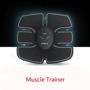 EMS Remote Control Abdominal Muscle Trainer Smart Body Building Fitness Abs Sport Gadget F115Free Shipping