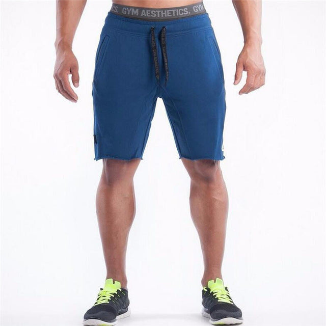 2018 summer Brand High Quality Cotton Men shorts Bodybuilding Fitness Gasp short masculino workout jogger shorts golds