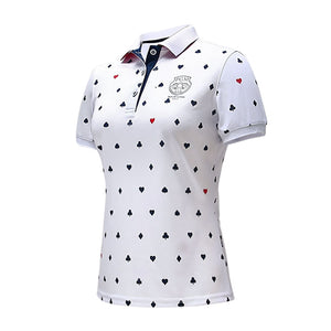 Women's Golf T Shirt Golf Apparel Ladies T-shirt Breathable Quick Drying Soft Golf Short Sleeve Polo Shirt Female Sports Tops
