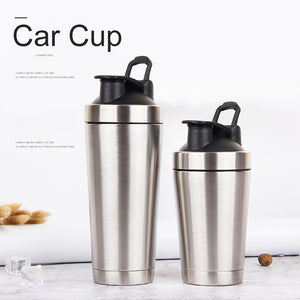 720ml 304 Stainless Steel Protein Powder Milk Shaker Blender Water Bottle Double Layer Thermos Mug Fitness Gym Outdoor Cup