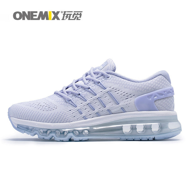 ONEMIX Air Women Running Shoes for Men Mesh Unique Shoe Tongue Athletic Trainers Black Breathable Sports Shoe Cushion Sneakers