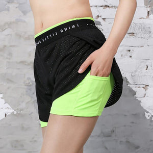 2018 Hot Sale Women Fitness Yoga Mesh Breathable Running Freeshipping Workout High Elastic New Printed Ladies Shorts