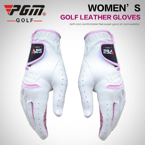 Pgm golf gloves wear-resistant Women slip-resistant suede gloves double
