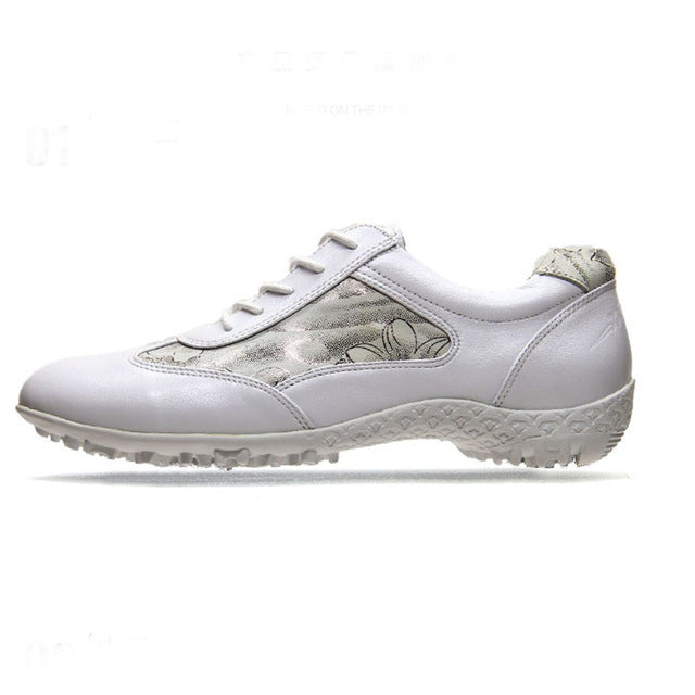 Golf shoes women's golf shoe leather waterproof soft bottom golf shoes comfortable golf antiskid white shoes  free shipping