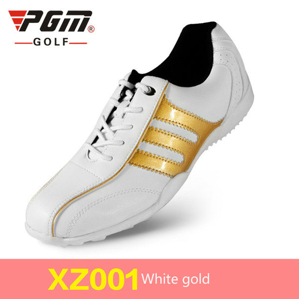 PGM Woman waterproof Microfiber Leather Golf shoes Female breathable golf sneakers Non-slip wear-resistant golf shoes size 35-39
