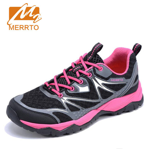 MERRTO Brand Women Outdoor Sneakers Breathable Mesh Professional Hiking Shoes Female High Quality Outdoor Trekking Trail
