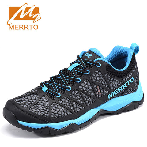 MERRTO Men Outdoor Hiking Shoes Walking Sports Breathable Air Mesh Shoes Camping Trekking Sneakers Climbing Mountain Sneakers