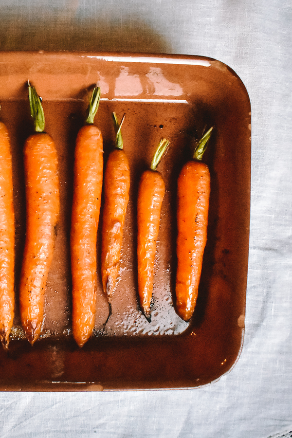 Olive Oil and Honey Roasted Carrots