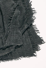 Load image into Gallery viewer, free people sun washed travel scarf washed black