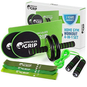 HerculesGrip Ab Wheel Roller Kit