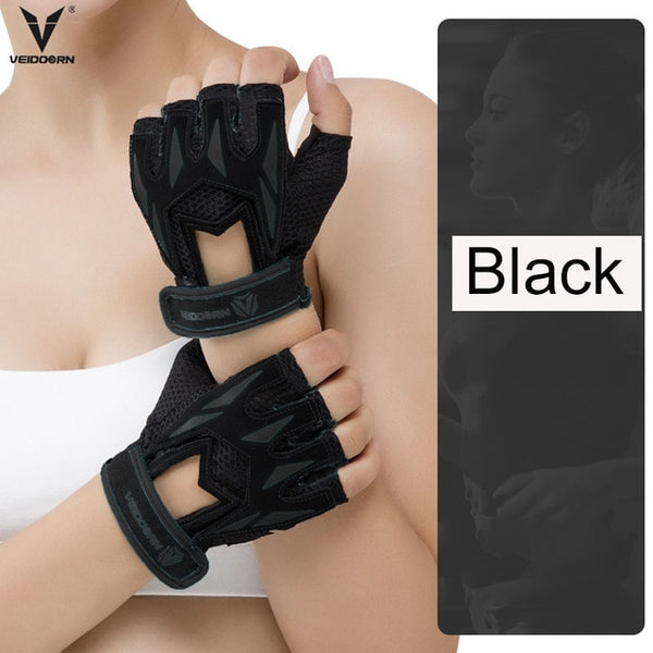 Veidoorn Professional Weight Lifting Gym Gloves Breathable Exercise Training Sport Gloves Fitness Cycling Workout Women men