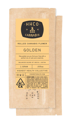 Rolled Cannabis Flower<br/>- Golden
