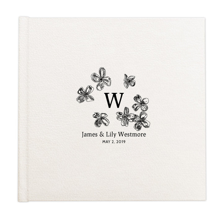 Floral blossoms monogram custom illustrated album cover design by The Alice Files.