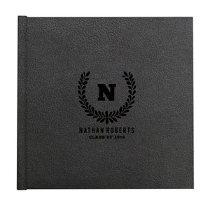 Leaf monogram custom illustrated album cover design by The Alice Files.