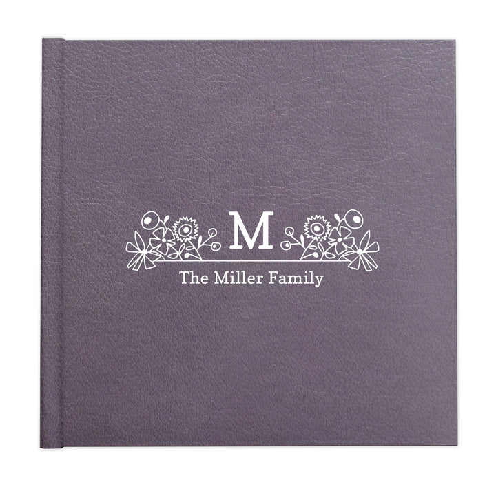 Whimsical floral monogram custom illustrated album cover design by The Alice Files.