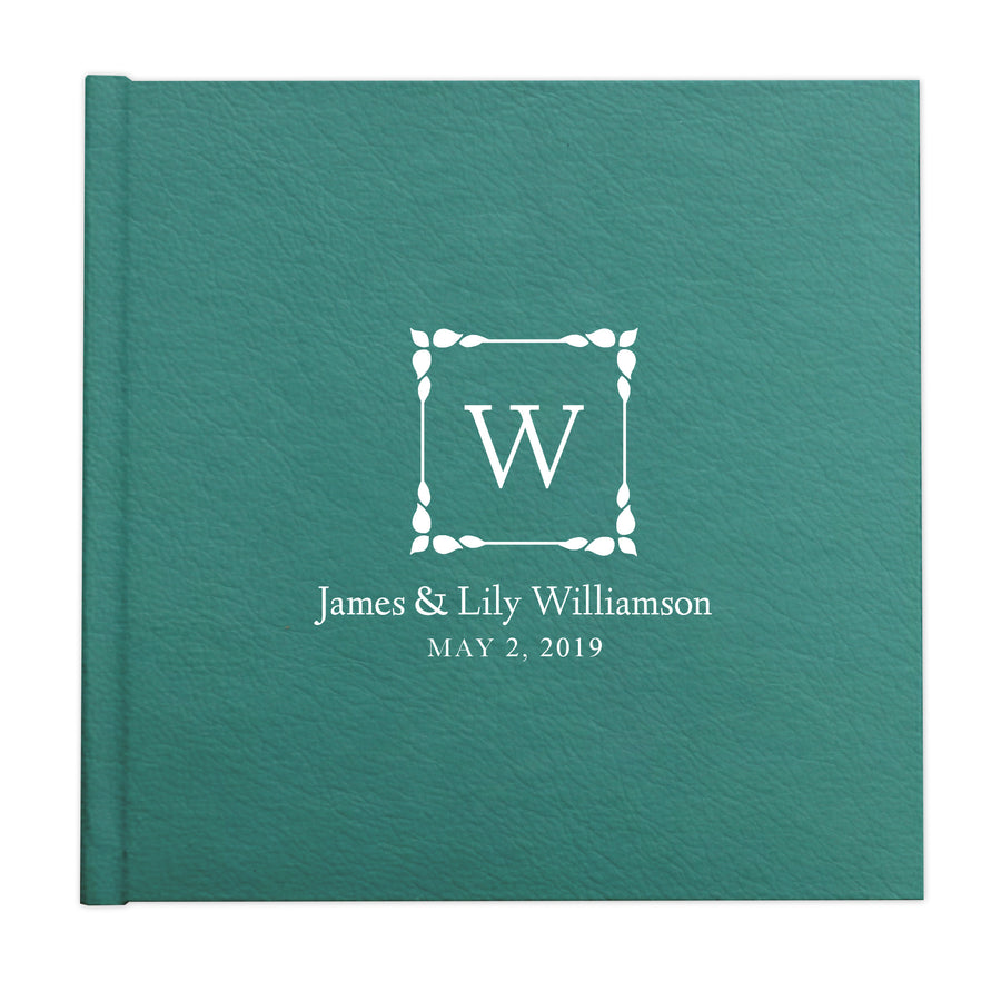 Stylized leaves monogram frame custom illustrated album cover design by The Alice Files.