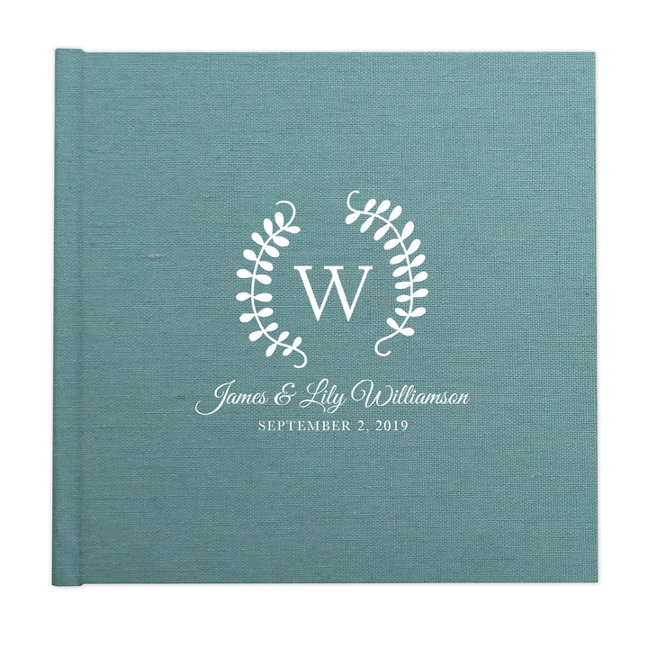 Whimsical two vines monogram custom illustrated album cover design by The Alice Files.