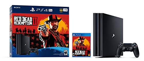 PlayStation 4 Pro 1TB Console -  Red Dead Redemption 2 Bundle: Video Games