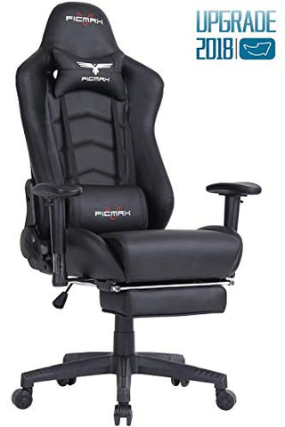 Ficmax Ergonomic Gaming Chair Racing Style Office Chair Recliner Computer Chair PU Leather High-Back