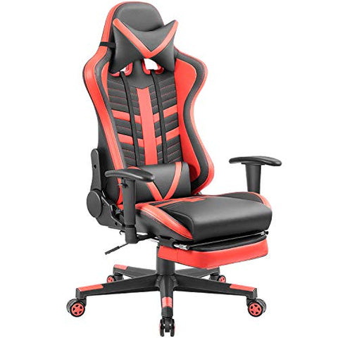 Homall Gaming Chair Ergonomic High-Back Racing Chair Pu Leather Bucket Seat,Computer Swivel