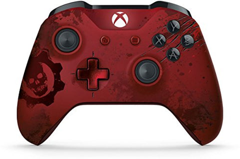 Xbox Wireless Controller - Gears of War 4 Crimson Omen Limited Edition: xbox one: