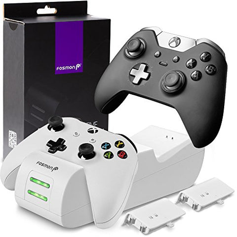 Fosmon Xbox One/One X/One S Controller Charger, [Dual Slot]