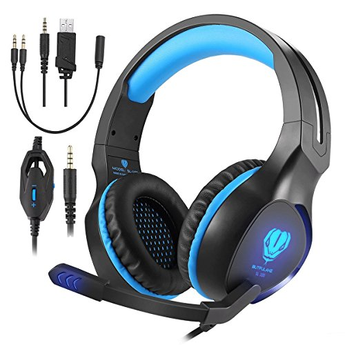 Butfulake Gaming Headset for Xbox One PS4 PlayStation 4 Nintendo Switch PC Smartphone