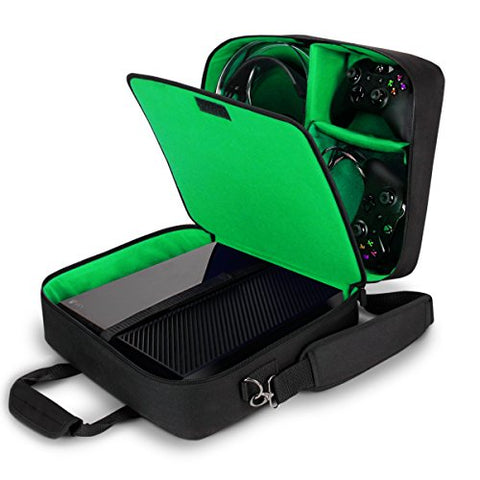 USA Gear Case Compatible with Xbox One / Xbox One X Travel Carrying Bag for Console