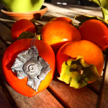 Load image into Gallery viewer, Sterling Silver Persimmon Necklace