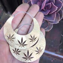 Load image into Gallery viewer, Cannabis Hoop Earring